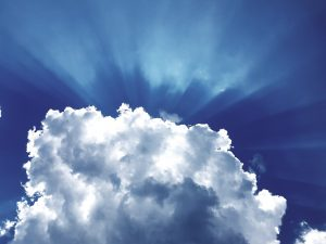 Clouds showing light- worrying verses in the bible