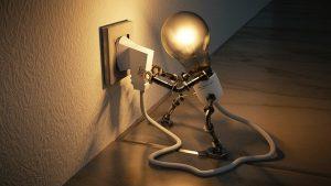 cant sit still- lightbulb getting energy